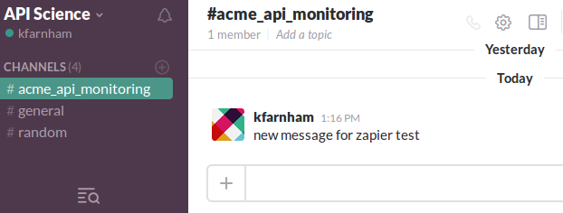 slack-message-for-zap-test