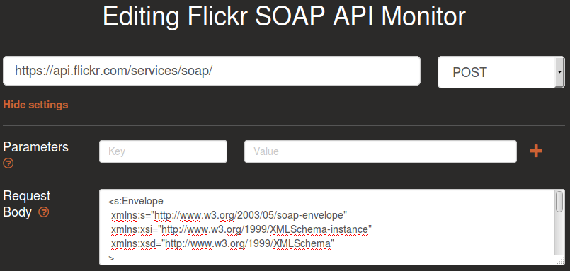 flickr-soap-settings
